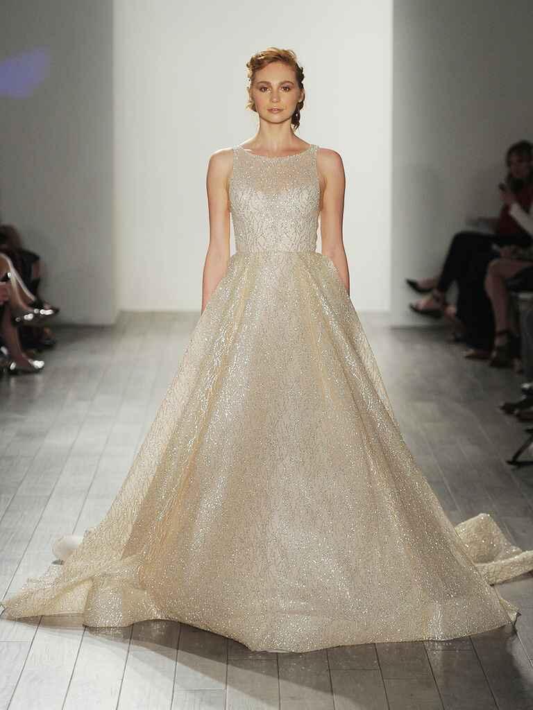 Lazaro fall 2017 collection bridal fashion week photos for Lazaro a line wedding dress