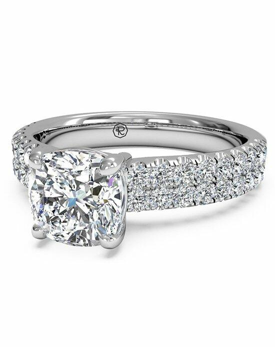Ritani Cushion Cut Double French-Set Band Engagement Ring in Platinum (0.59 CTW) Engagement Ring photo