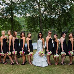 Rustic Black Bridesmaid Dresses