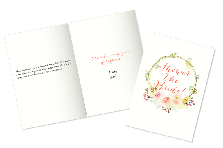 Gift Card Wedding Shower: Bridal Shower Wishes: What To Write In A Bridal Shower Card