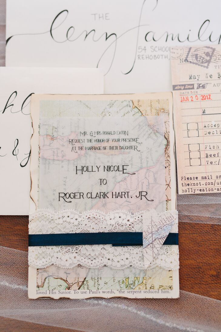 DIY Travel-Inspired Wedding Invitations