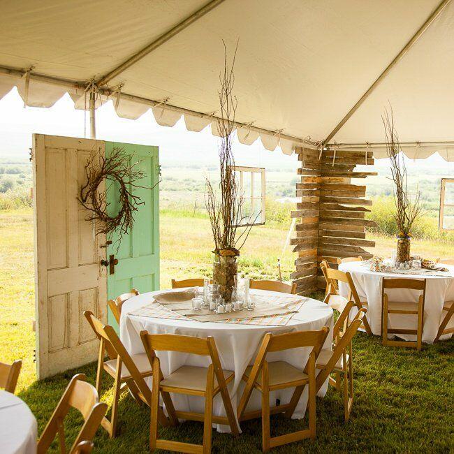 Casual Outdoor Wedding Reception Ideas: Rustic Tented Wedding