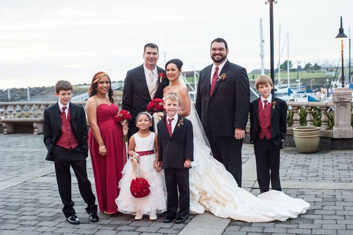 Red, Black and White Wedding Party