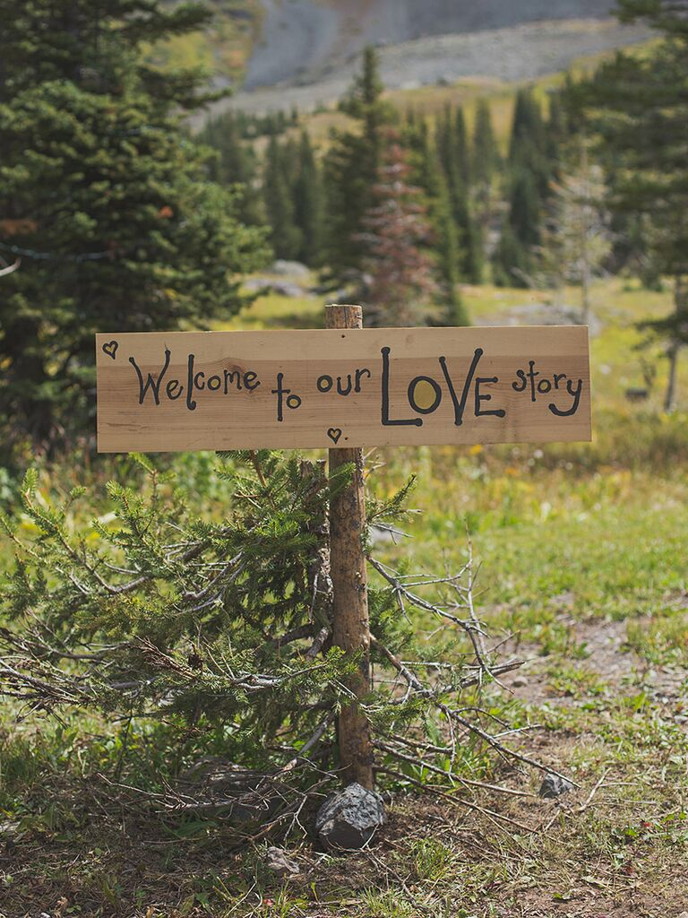 21 pretty diy wedding signs rustic love story wedding sign junglespirit
