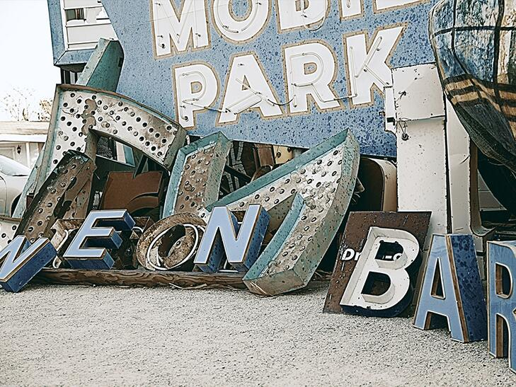 vintage neon signs at the Neon Museum, Las Vegas