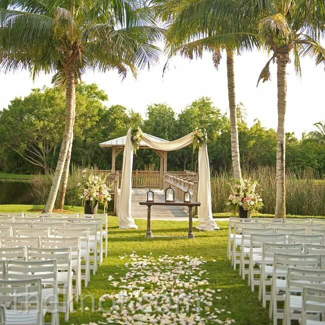 Wedding Altar Outside: A Classic Garden Wedding In Bonita Springs, FL