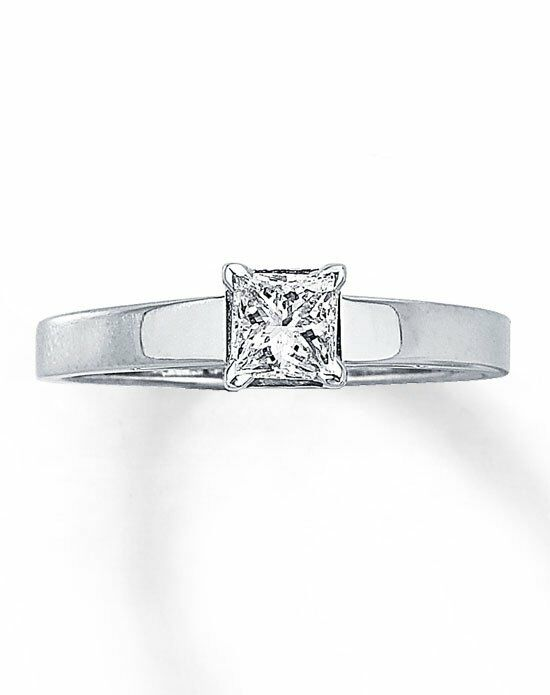 Kay Jewelers Diamond Solitaire Ring 1/2 ct Princess-Cut 14K White Gold-161215809 Engagement Ring photo
