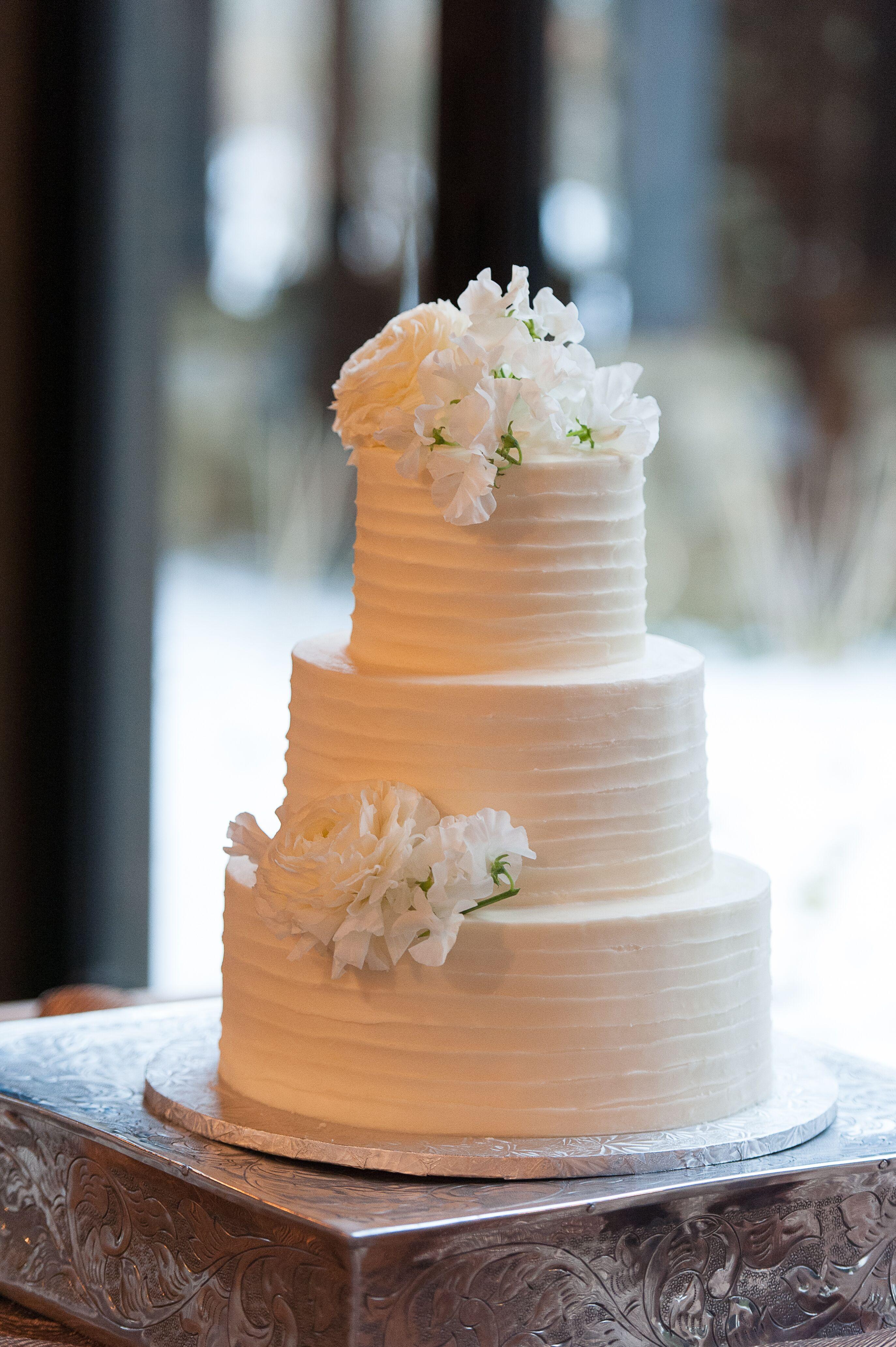 Classic Ivory Buttercream Wedding Cake
