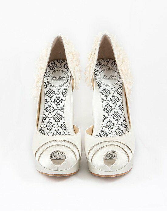 Hey Lady Shoes Luck Be A  Buttercream Wedding Accessory photo