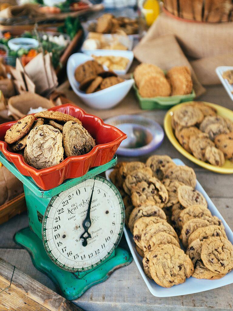 20 creative wedding dessert buffet ideas cookie bar dessert station for a wedding reception junglespirit Images