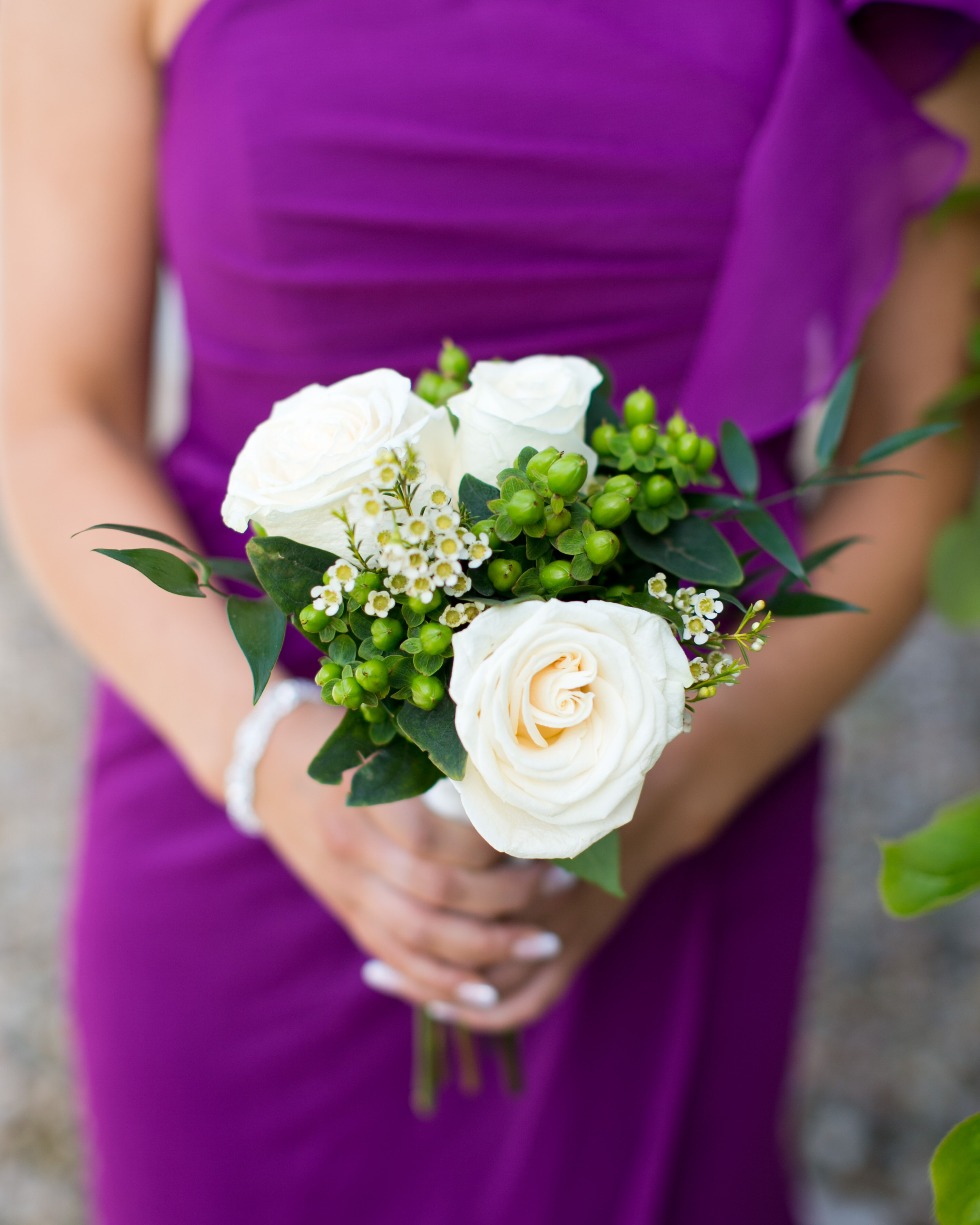Ivory Rose And Hypericum Bouquet