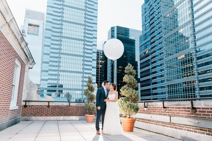 A simple white balloon served as the perfect focal point for a photo on the terrace of Davio's Northern Italian Steakhouse in Philadelphia, Pennsylvania.