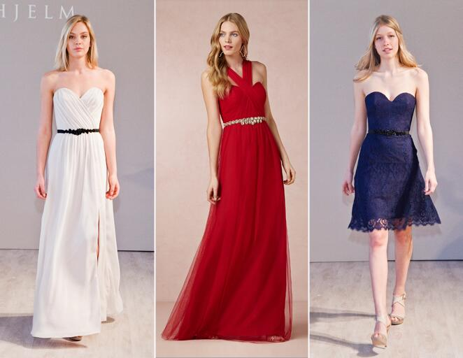 Bridesmaid dresses with belts
