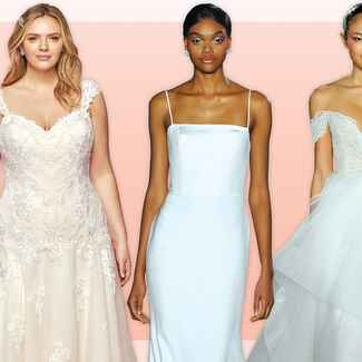 Wedding gowns with different silhouettes