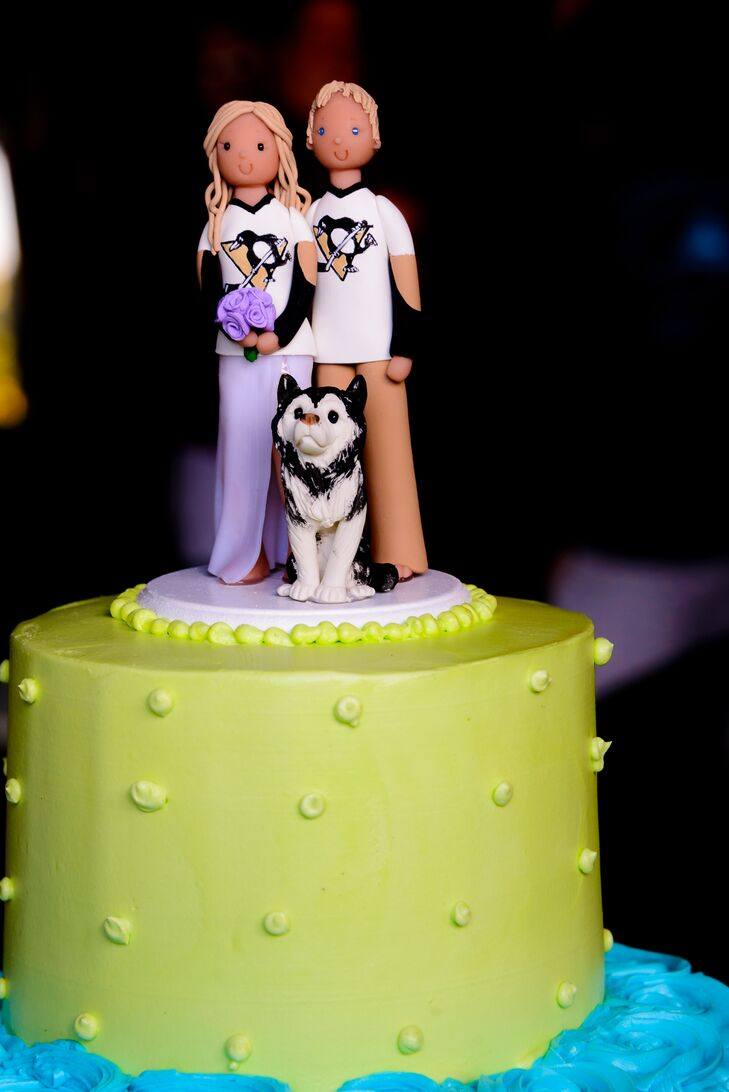 Personalized Topper with Husky Wedding Dog