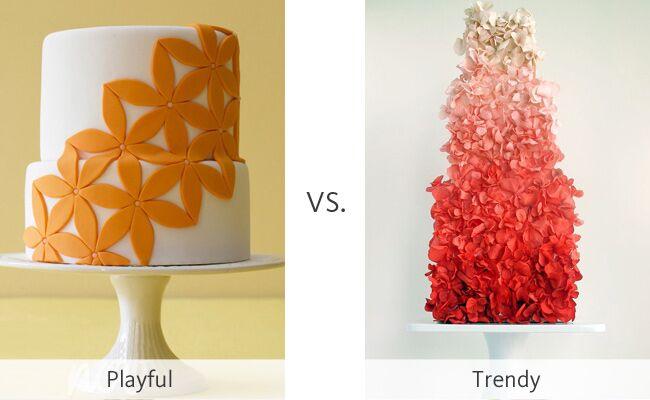 The Playful Cake vs. The Trendy Ombre Cake #WeddingMadness