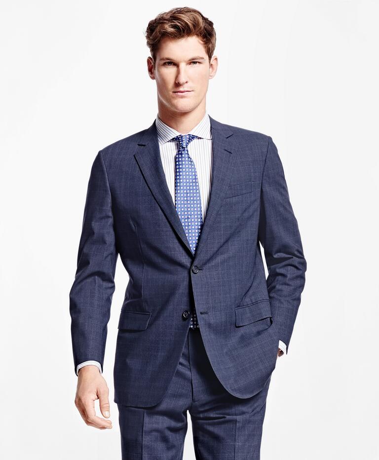 Brooks Brothers Fitzgerald Fit BrooksCool Plaid Suit