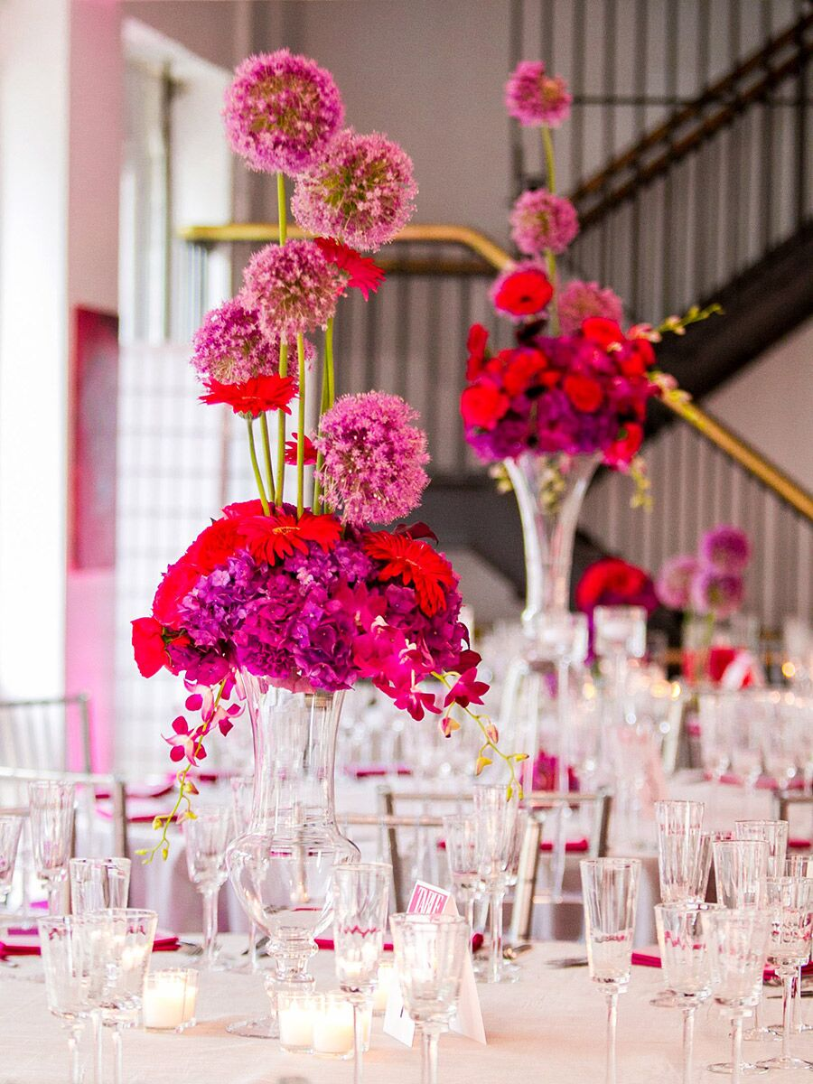 Stunning Tall Centerpieces for Wedding Receptions