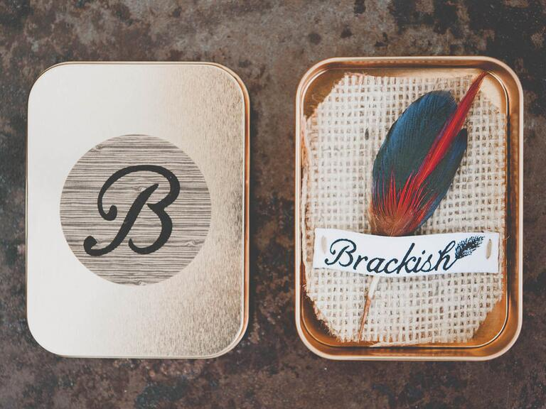 Brackish groomsmen gift pin