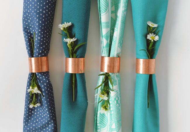 Copper napkin ring DIY ideas