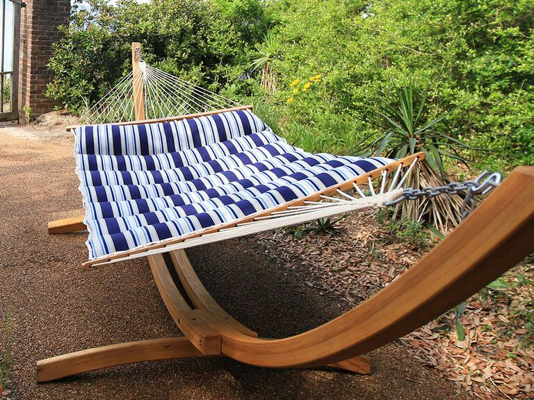 Striped hammock 10 year anniversary gift for him