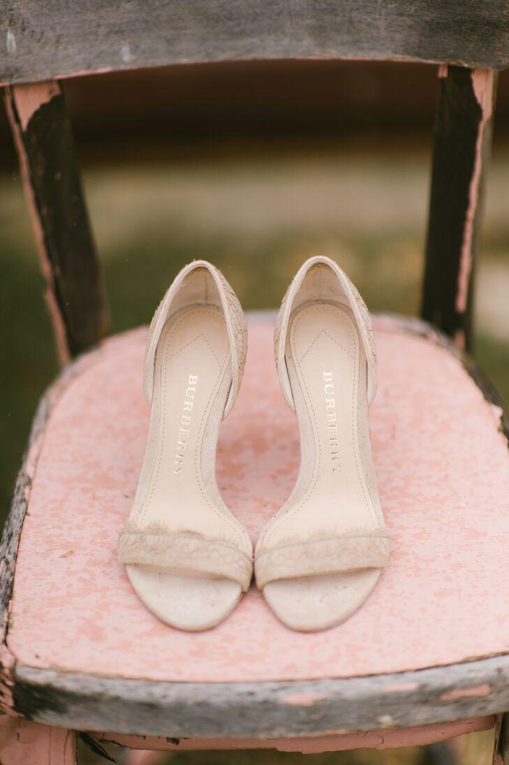 Blush Lace Bridal Shoes