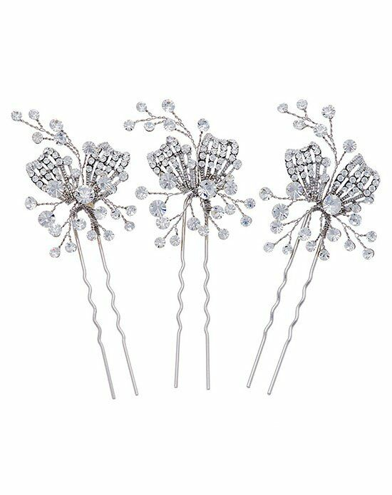 Thomas Laine Gwyneth Crystal Hair Pins - Set of 3 Wedding Accessory photo