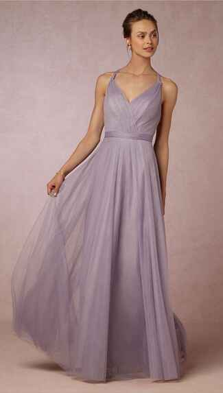 purple bridesmaid dress by BHLDN