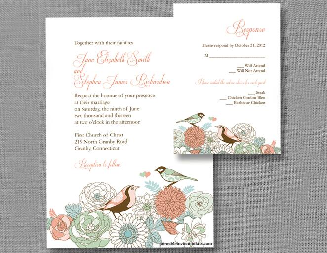 Wedding Invitation Templates That Are Cute And Easy to Make – Wedding Invitation Sample Format