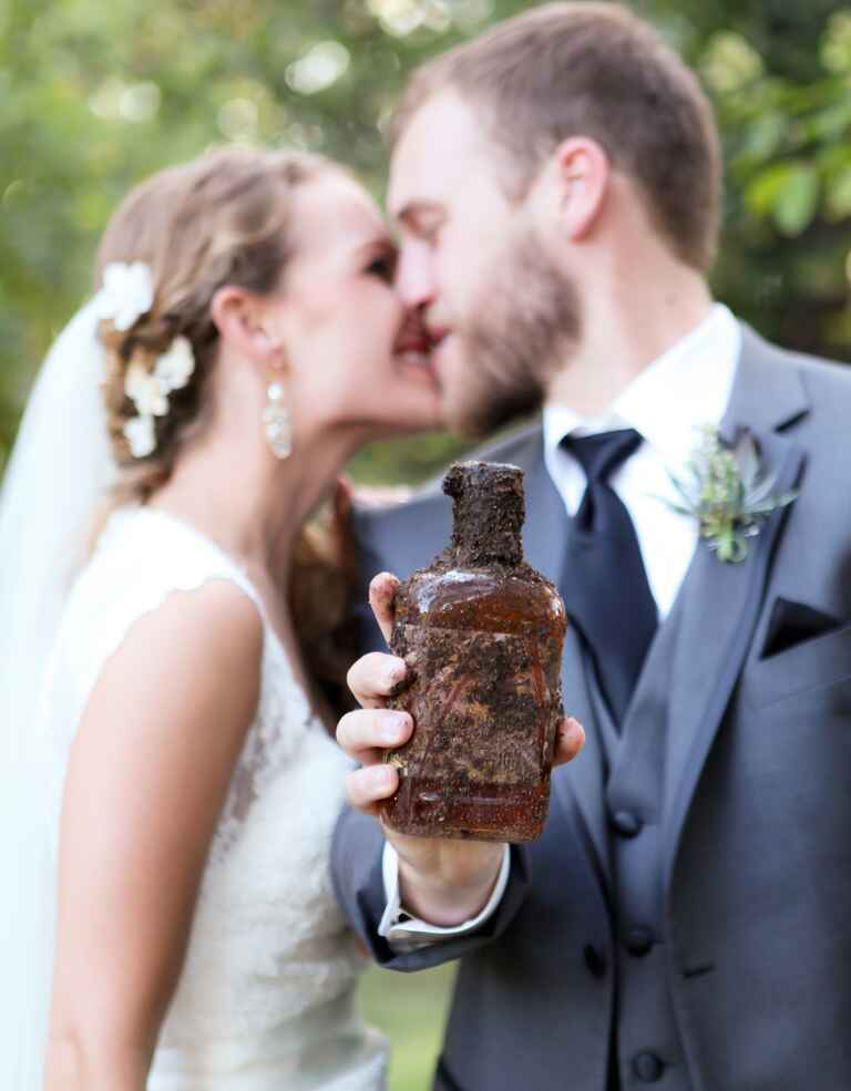 """Burying the bourbon"" wedding tradition."
