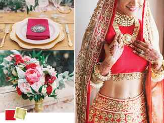 Red and gold wedding color inspiration