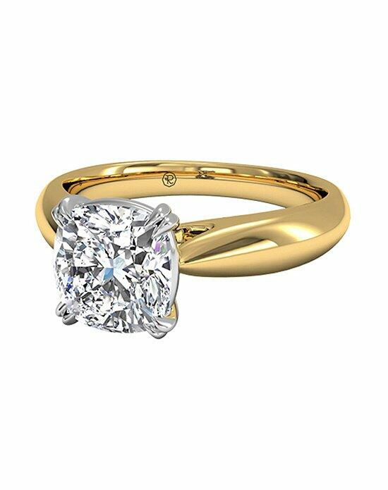 Ritani Cushion Cut Solitaire Diamond Tulip Cathedral Engagement Ring in 18kt Yellow Gold Engagement Ring photo