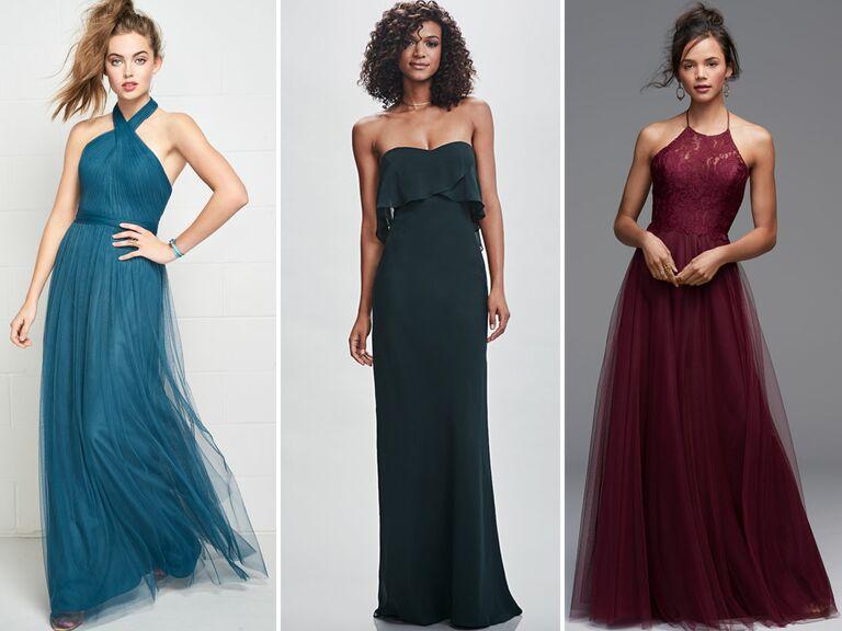 Bridesmaid long dresses 2018