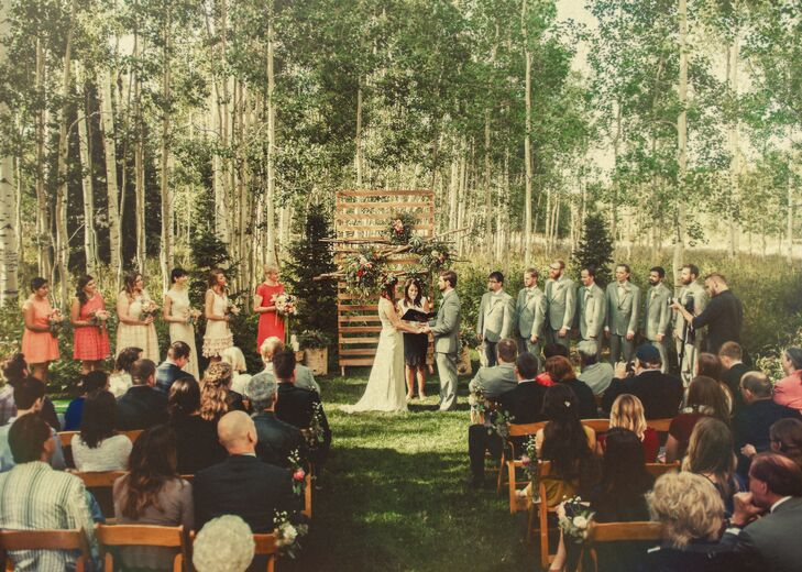 Natural Wedding Ceremony At Wolf Creek Ranch In Woodland Utah