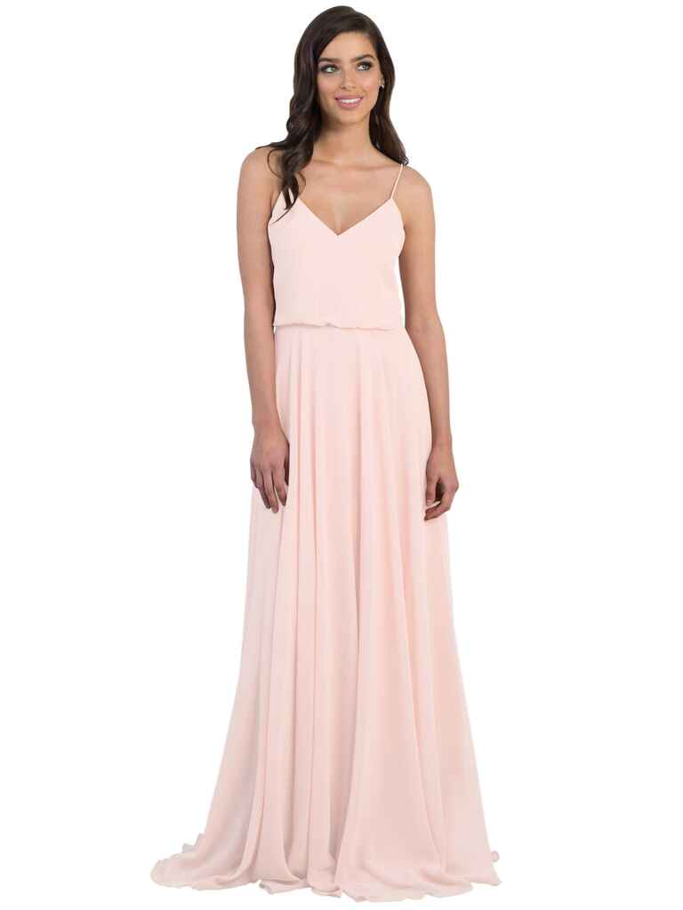 Jenny Yoo Inesse bridesmaid dress in Petal Pink