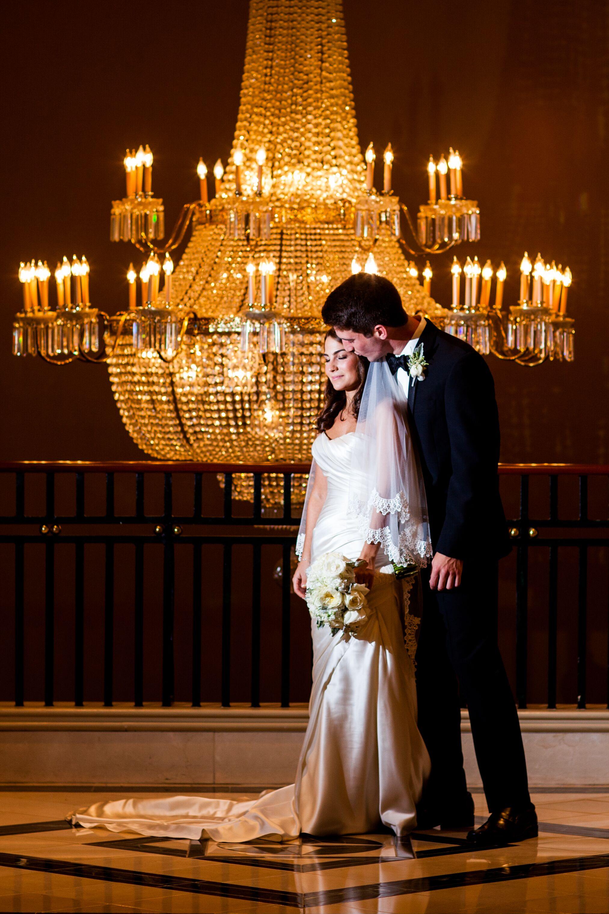 A formal ballroom wedding at the grand hyatt hotel in for Wedding dresses atlanta buckhead