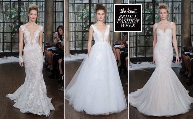 Ines Di Santo Shows Wedding Dresses With Plunging Necklines for Fall/Winter 2015