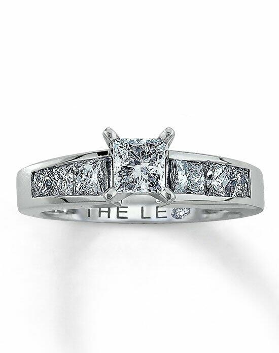 The Leo Diamond Diamond Engagement Ring 1 1/2 ct tw Princess-Cut 14K White Gold-990580108 Engagement Ring photo