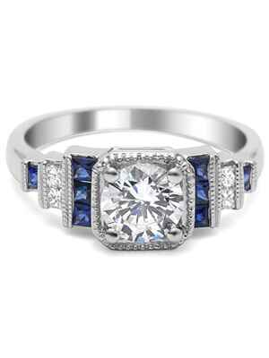 Timeless Designs tiered engagement ring