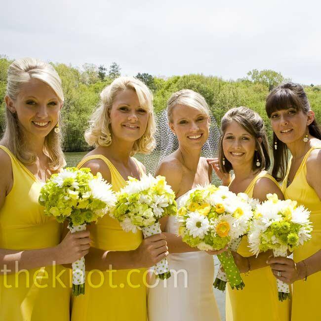 Yellow And Brown Bridesmaid Dresses 16