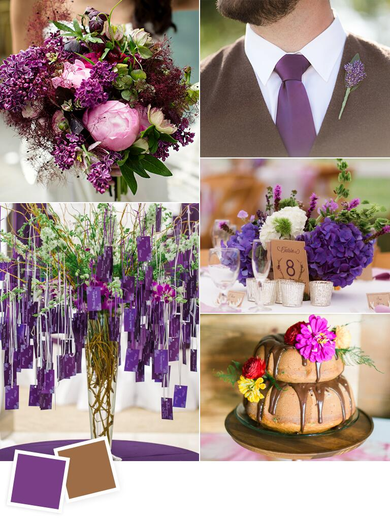 Grape and walnut fall wedding color ideas