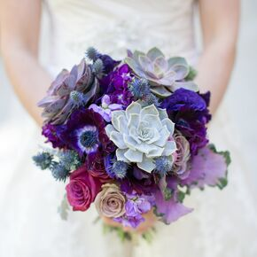 Blue wedding bouquets purple and blue bouquets junglespirit