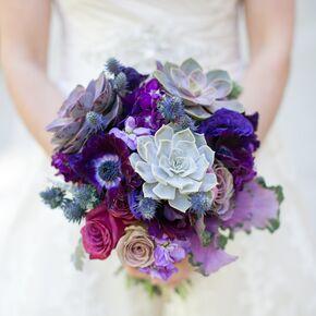 Blue wedding bouquets purple and blue bouquets junglespirit Choice Image