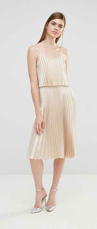 gold bridesmaid dress by ASOS