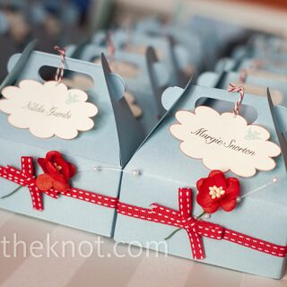 Real Spring Wedding Favors