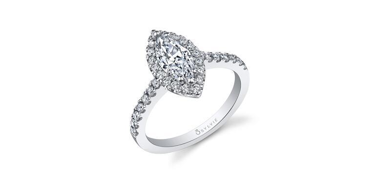 Classic Marquise Diamond Engagement Ring