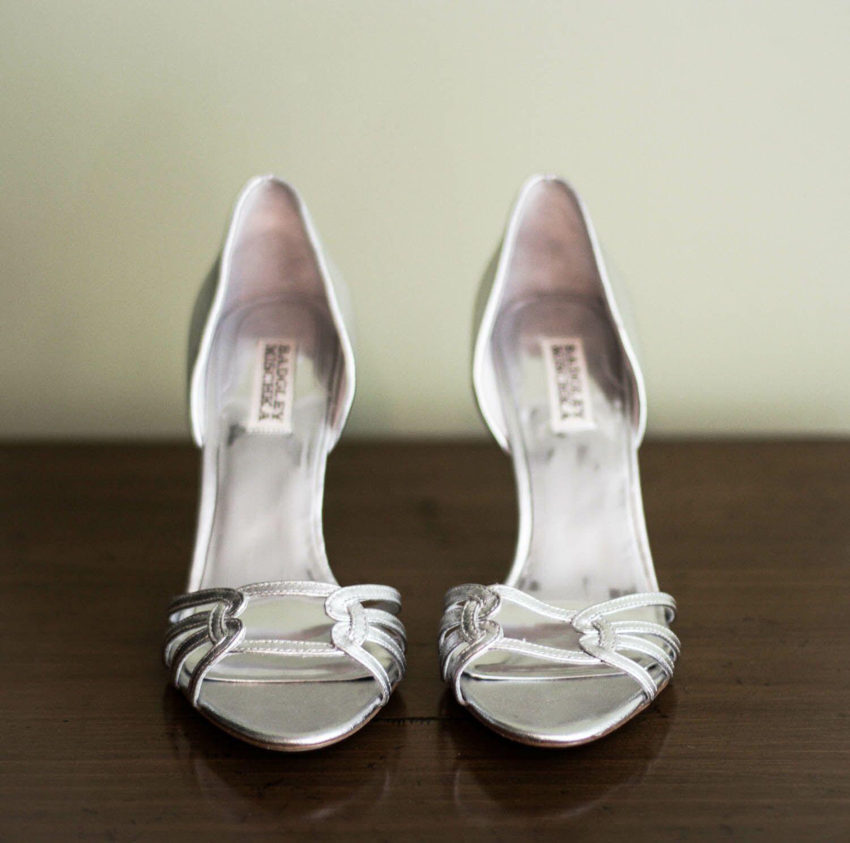 California Silver Badgley Mischka Wedding Shoes