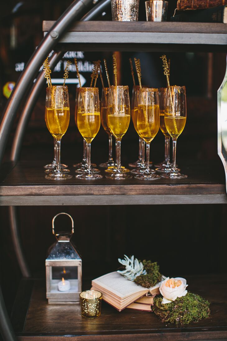 "Upon arriving at the museum, guests got a signature champagne drink called the ""Felix Felicis,"" which in ""Harry Potter"" is the potion that brings the drinker luck."