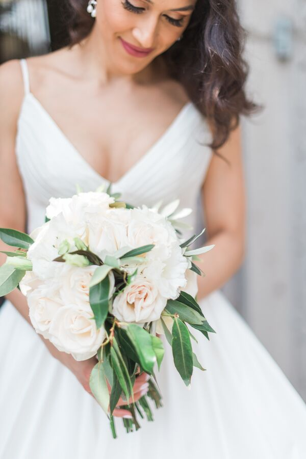 Pale Blush Garden Rose Bouquet