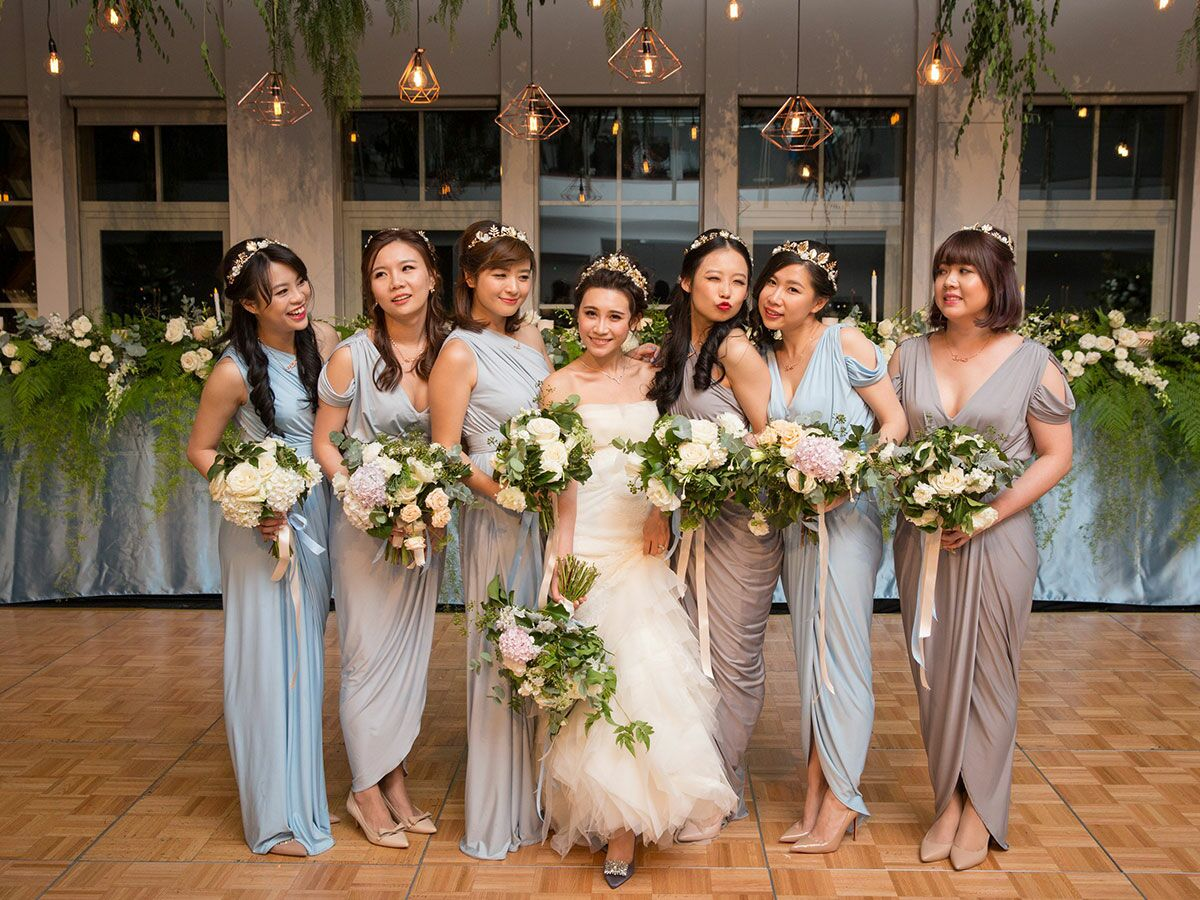 How to choose mismatched bridesmaids dresses the right way ombrellifo Images